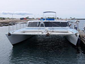 ハワイ島 ホエールウォッチング 双胴船