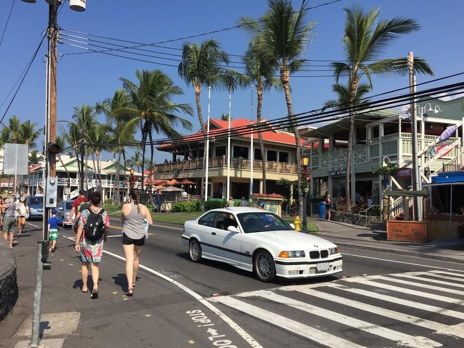 ハワイ島 コナ 町並み