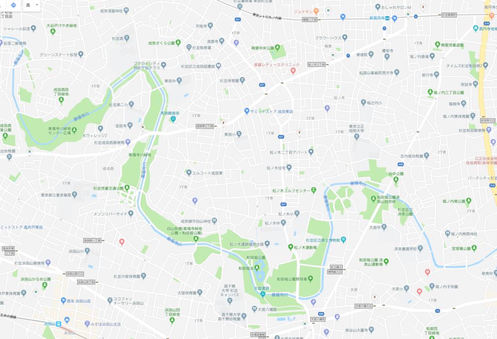 アペルタ 周辺 公園 善福寺川